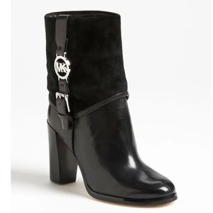 Michael Michael Kors 6 Fulton black leather boots